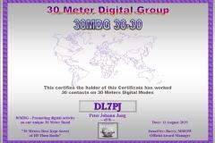 DL7PJ - 30MDG Award Certificate: (30MDG 30-30)