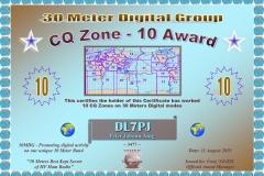 DL7PJ - 30MDG Award Certificate: (30MDG CQZ-10)