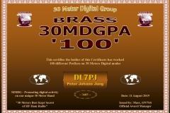 DL7PJ - 30MDG Award Certificate: (30MDG PA-100)