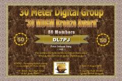 DL7PJ - 30MDG Award Certificate: (30MDGM Bronze)